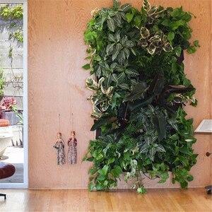 Image 5 - 4 i 7 Pocket filcowe pionowe ogrodnictwo kwiat pojemnik na sadzonki wiszące doniczki pojemnik na sadzonki na ścianie ogród zielone pole ogród Decora