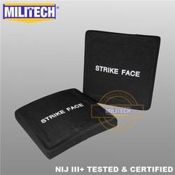 AK47 & SS109 & M80 6 ''x 6'' SAPI Ballistic Plaat NIJ Niveau III + 3 + Bulletproof side Panel Twee STUKS Stand Alone ESAPI--MILITECH