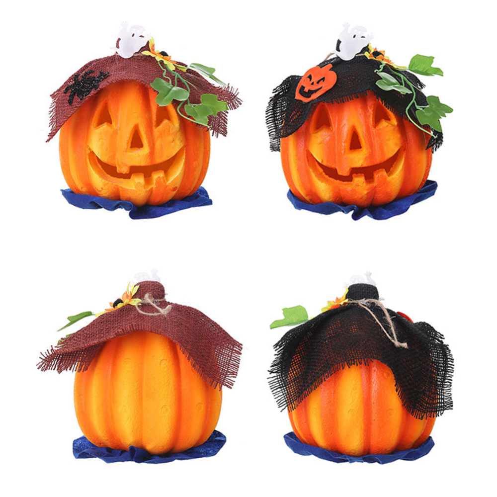 Pumpkin Halloween Party Decorations Set Decorative Hanging Paper Lanterns Tissue Paper Fan for Halloween Party Thanksgiving Home Decoration Party Supplies Props