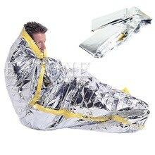 Outdoor Portable Waterproof Reusable Emergency Silver Foil Camping Survival Sleeping Bag