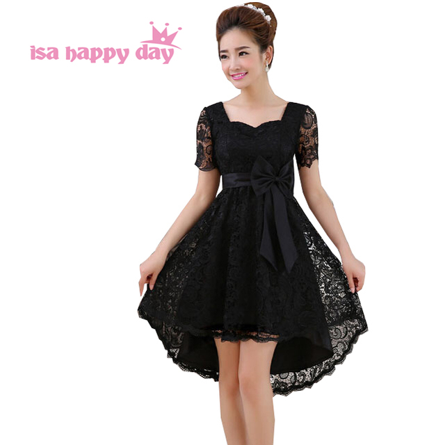 Elegant Black Lace Sleeves Dress