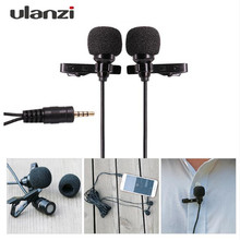 Ulanzi Dual-Headed Lavalier Lapel Clip-on Omnidirectional Condenser Microphone for Interview Conference for iPhone HUAWEI PC