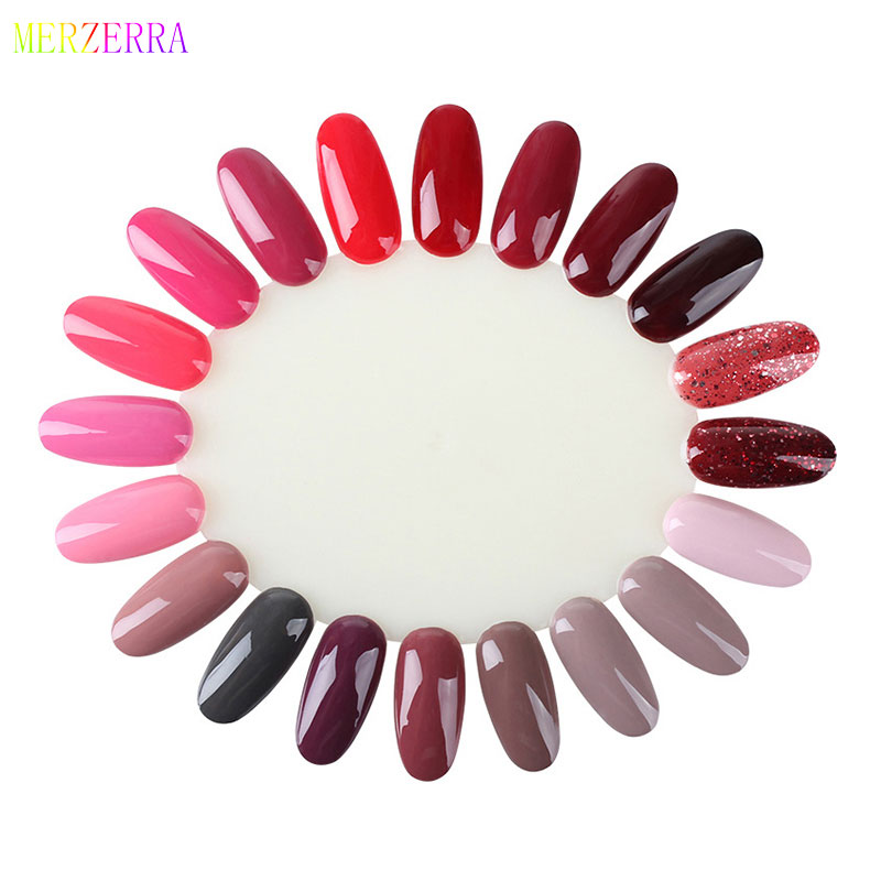 False Nails Palette Color Card White Transparent Acrylic Fake Nails Tips Polish Color Display Plastic Artificial Board DIY Round