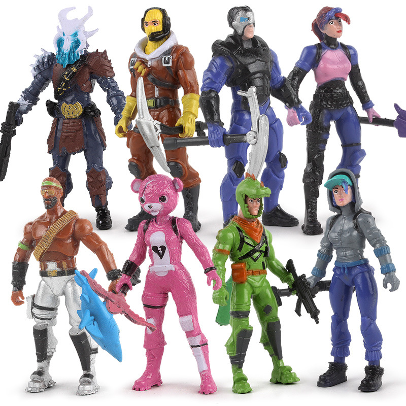 Battle Royale Action Figure PVC Model Popular Season 8 Fortress Night Character Model Hot Shooting Game Doll Toy Birthday Gifts