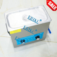 ERIKC 110V, 6L Top Quality Fuel Injector Cleaning System Tool E1024015 Auto Cleaning Equipment Ultrasonic Cleaner 110V, 6L