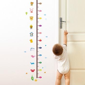 SHIJUEHEZI] tabla de crecimiento de animales calcomanía de pared de ...