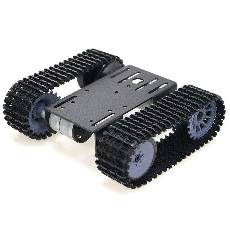 Mini TP101 plataforma de Control remoto de chasis de seguimiento de tanque inteligente con doble Motor de CC para Arduino 2018 nueva llegada Tanque de depósito de aceite de aluminio desenfocado/tanque de aceite con filtro Universal OCC025