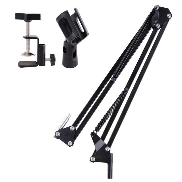 Broadcasting Studio Microphone  Boom Scissor Suspension Arm Mount Stand Shock-support 360-degree adjustable 20PCS/Lot Free DHL
