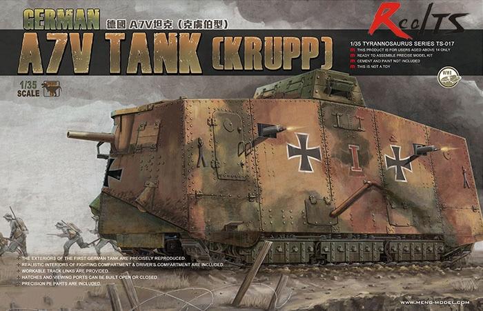 RealTS MENG MODEL 1/35 GERMAN A7V TANK (KRUPP) #meng TS-017 цена и фото