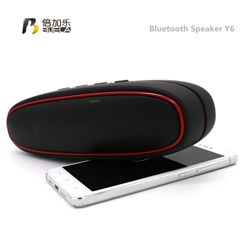 BIJELA Y6 New Design Hands Free Wireless Portable Bluetooth Speaker Loud with Bass,Hiking,Climbing,Beach MP3 Player Pocket Audio