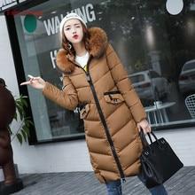 Fairy Dreams Women's Winter Jacket Pink Black Green Gray Female Coat Cotton Down Parka Long Thick Warm Plus Size Clothing 2017