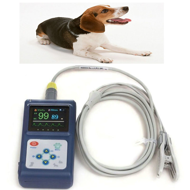 цена на CONTEC Veterinary Professional Digital Pulse Oximeter for Amimals Pets with Vet special oximeter probe moniting SPO2,PR CMS60D
