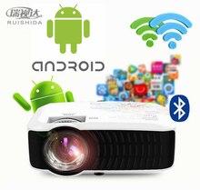 Ruishida m3 жк проектор для домашнего кинотеатра android 4.4 беспроводная связь bluetooth 4.0 wi-fi 3000 ЛМ 1280×720 Pixels HD 1080 P Media Player
