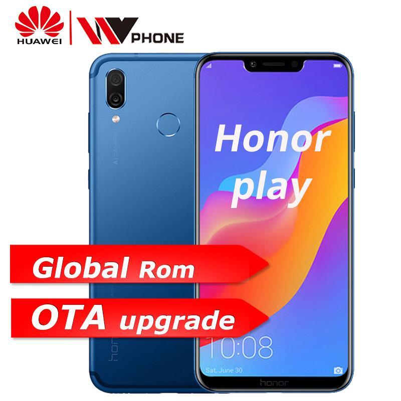 Huawe Honor Play mobile phone 4G 64G 6.3 inch Octa Core Mobile Phone Dual Rear Camera game phone Fingerprint Face ID