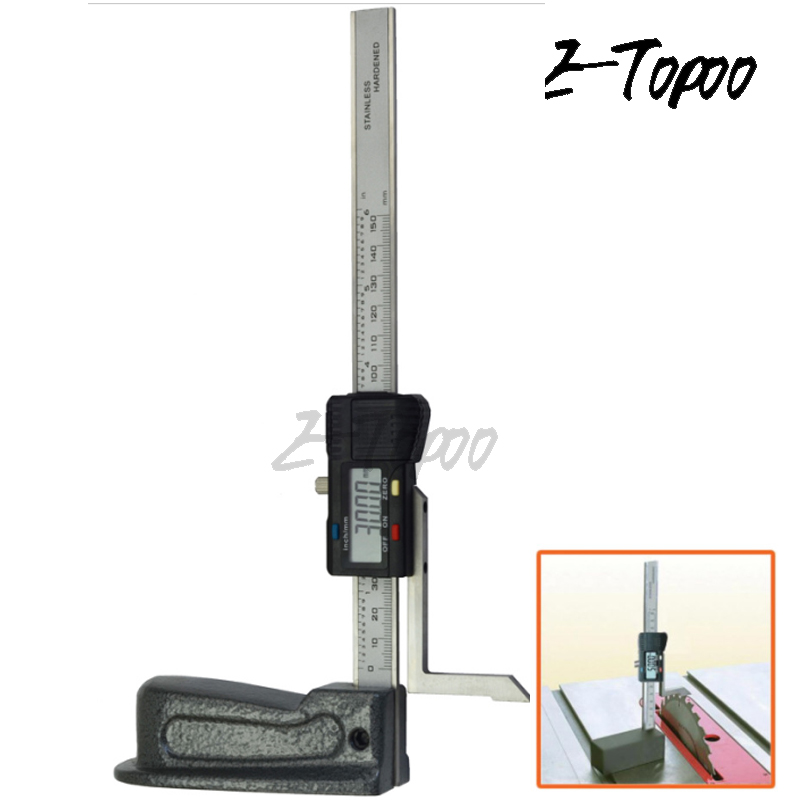 0-150mm 0.01mm Mini Stainless Steel Digital Height Gauge Carbon Fiber Electronics Marking Gauge Measure Scriber Vernier Caliper