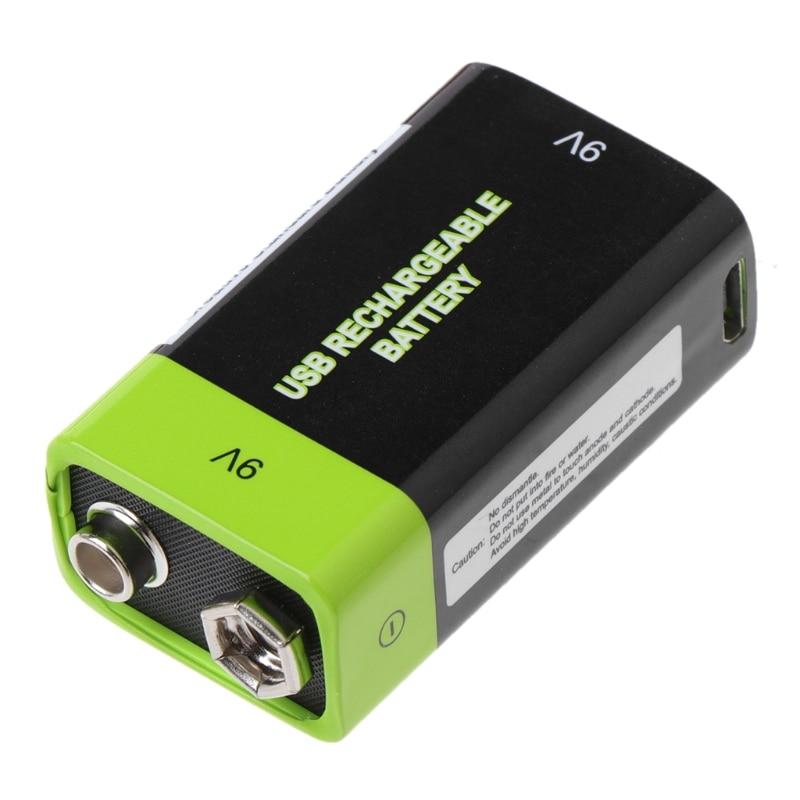 9 V 400 mAh USB recargable 6F22 Lipo para multímetro micrófono remoto