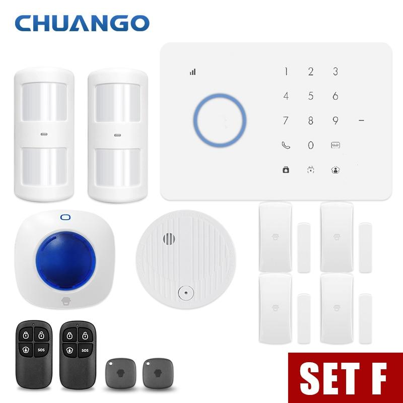 CHUANGO app control Wireless GSM Security Alarm System Kit APP Control With Auto Dial Motion Sensor Pakistan