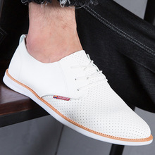 hot deal buy 2019 men's shoes summer tide shoes breathable shoes boys inverness business work casual shoes korean round head work shoe man