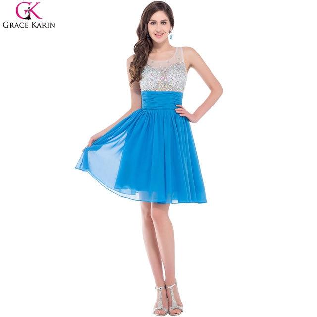 Online Shop Grace Karin Short Prom Dresses 2017 New Luxury Beaded ...