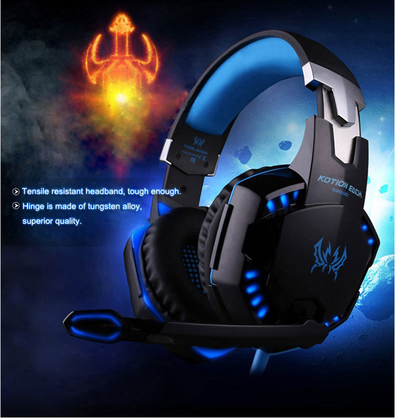 Best casque Computer Stereo Gaming Headphones Deep Bass Game Earphone Headset Gamer with Microphone Mic LED Light for PC Game  (5)