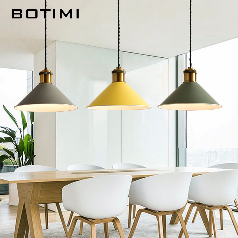 Botimi Fashion LED Pendant Lights With Metal Lampeskærm Lamparas - Indendørs belysning