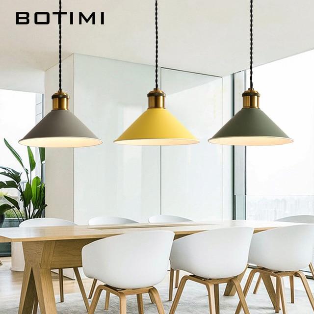 Botimi Fashion LED Pendant Lights With Metal Lampshade Lamparas