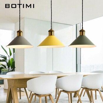 Compras baratas Botimi moda LED luces Colgantes con Metal Lamparas