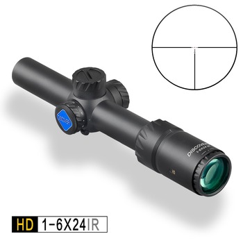 Discovery HD 1-6X24 IR Lunghi Eye Relief Riflescope di Caccia Tactical optical sight Illuminato R & G Rifle Scope misura 30 -06 308 AR15