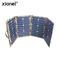 Xionel 80w High Efficiency Outdoor Solar Charger Sunpower Folding Portable Solar Panel Charger Bag for Laptop/Mobile Phone