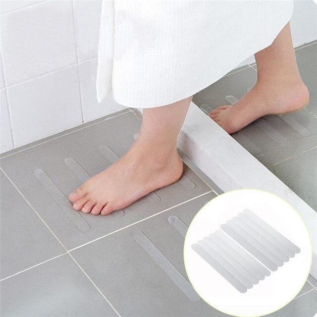 10Pcs Anti Slip Bath Mats Bath Grip Stickers Non Slip Shower Strips Flooring Safety Tape For bathroom