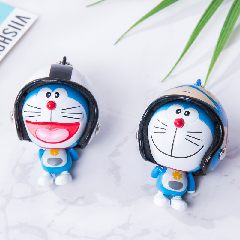 Back To Search Resultstoys & Hobbies New 2019 Anime Pvc Doraemon Figures Creative Cartoon Helmet Doraemon Keychain Cat Doll Pendant Kids Festival Gifts Traveling
