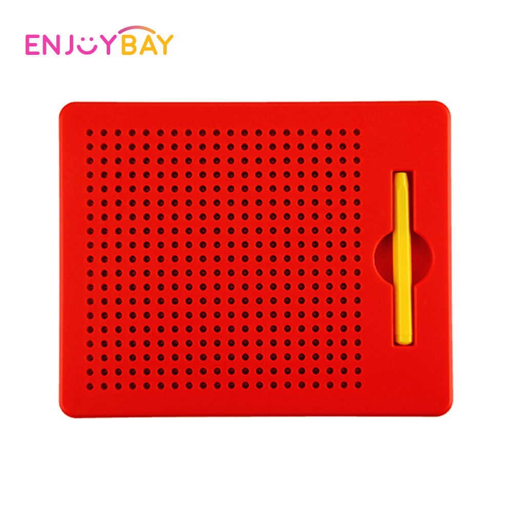 Enjoybay Colorful Magnetic Drawing Boards Painting Tablet Toy Portable Magnet Pad with Steel Bead Learning Toys for Children