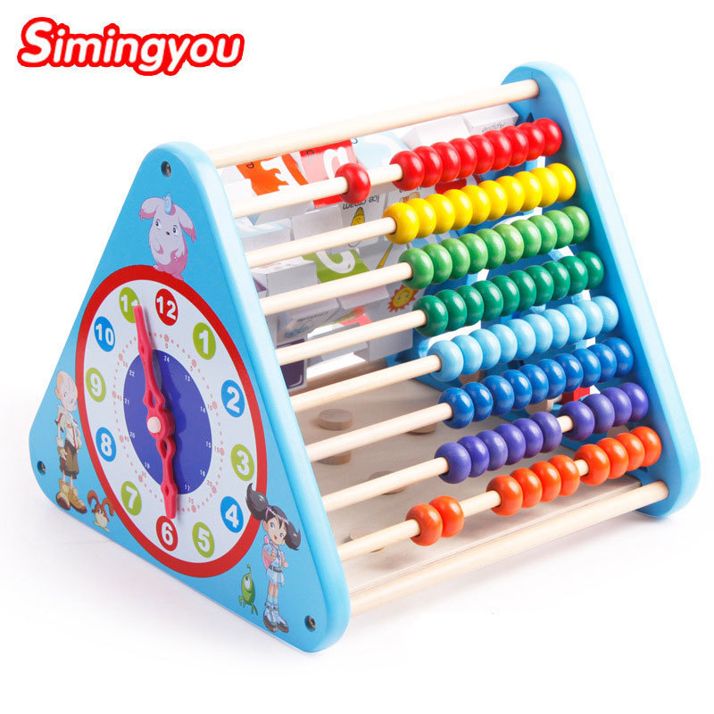 Simingyou Wood Toys Nine Great Combination Of Functional Wisdom Children Like To Play Educational Toys B40-8678 Drop Shipping simingyou kids toys colored wood double sided magnetic children drawing board montessori c20 q 15 drop shipping