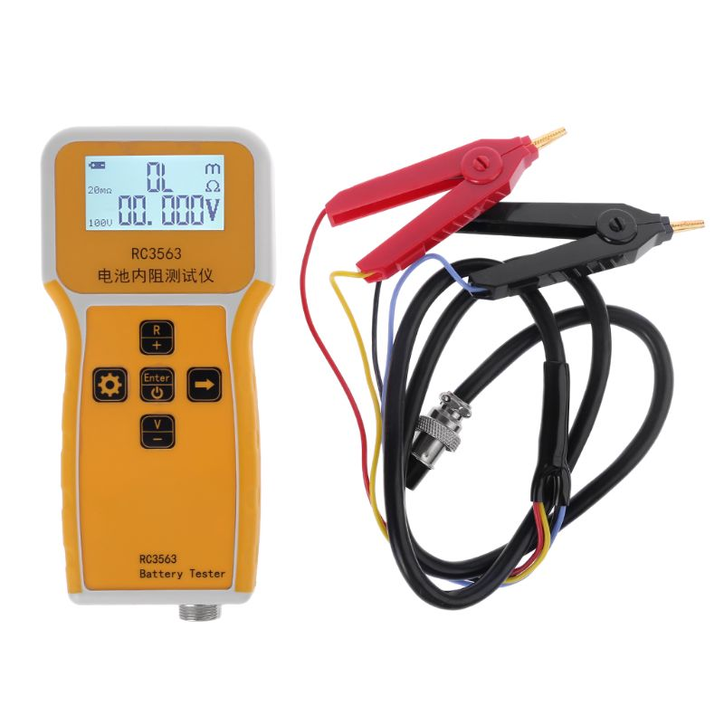Car battery tester RC3563 Handheld Battery Internal Resistance Tester Analyzer for Car Vehicle Lead-acid Battery dry cell