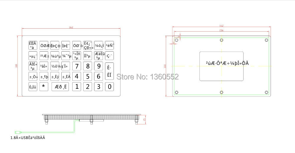 online shop 38 keys metal keypad with numbers and letters for gas station parking vending machine ticket kioskmetal highway toll keyboard aliexpress