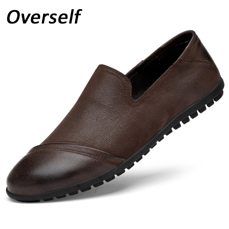 2018 Spring Summer Loafers Men Casual Shoes High Quality Big Size Flats Cow Genuine Leather Handmade Moccasin zapatos hombre new handmade spring summer soft dough leather flats quality leather men loafers men moccasin casual shoes driving shoes