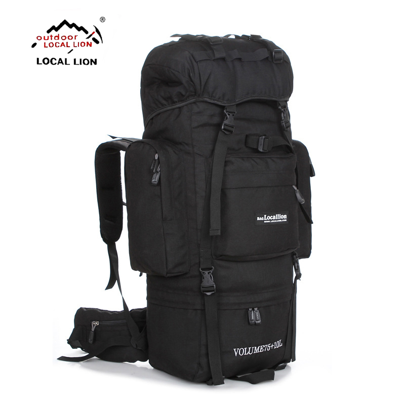 LOCALLION Large 85L outdoor bag climbing backpacks Hiking multifunctional backpack big capacity Rucksack camping sports bags multifunctional outdoor sports retractable plastic climbing safety rope black