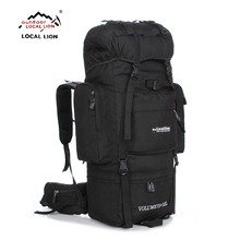 LOCALLION Large 85L outdoor bag climbing backpacks Hiking multifunctional backpack big capacity Rucksack camping sports bags