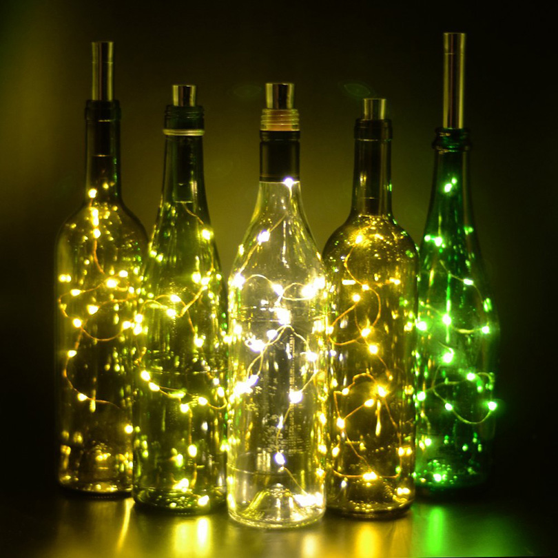 5pcs / lot 10pcs / lot Botol Botol Cork LED String Lights DENGAN - Pencahayaan perayaan - Foto 5