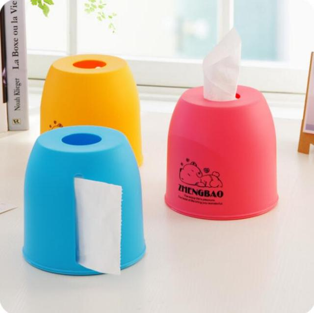 Cartoon Animal Two Site Pull Tissue Box Thickening Plastic Toilet Roll  Storage Pumping Tissue Holder