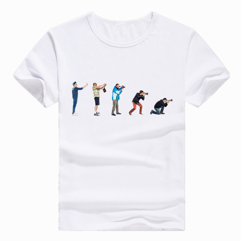 Asian Size Evolution Of A Photographer Personalized Summer Photography T-shirt Short sleeve O-Neck Tshirt For Men Women HCP796