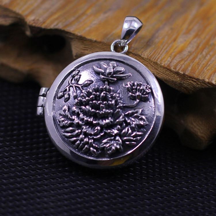 [Характеристики] серебряные ювелирные изделия оптовая продажа S925 цветок пиона леди кулон