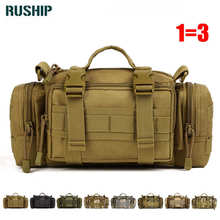 High Quality Waterproof Nylon 3P Magic bag Purse Sport Hunting Male Satchel Tactical Outdoor Tactical Waist Pack Tad Travel bag