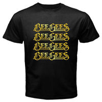 New BEE GEES Logo Music Group Legend Robin Gibb Men S Black T Shirt Size S