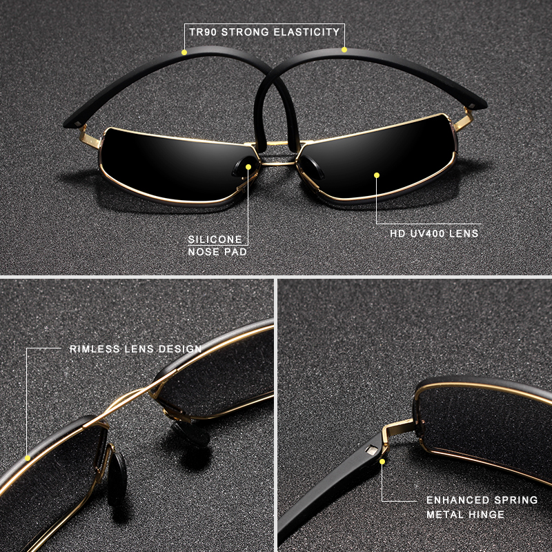 KINGSEVEN Brand Design Sunglasses Men Driving Square Frame Sun Glasses Male Classic Unisex Goggles Eyewear Gafas 4