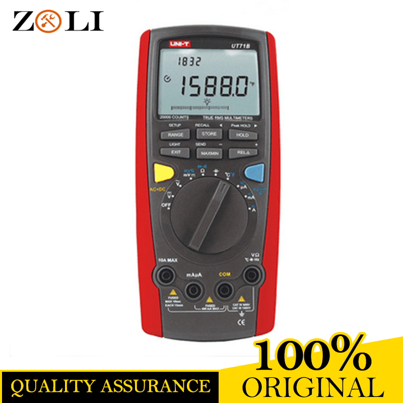 цены 2018 New UNI-T UT71B Digital Multimeter Ammeter Ohm Volt Temp Meter UT-71B USB Blue Universal LCD Count 19999 UNI-T UT 71B