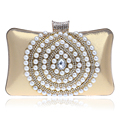 Beaded Women Evening Bags Rhinestones Imitation Pearl Water Design Day Clutches Purse Evening Bag For Wedding/Party