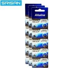 купить 10x/card 30pcs/Lot AG4 Button Cell Batteries 1.55V LR626 LR66 377 SR626SW 177 Cell Watch Toys Remote Camera Wholesales дешево