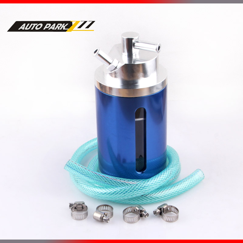 auto racing car engine aluminum oil can catch the universal circular aluminum oil tank