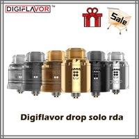 Electronic Cigarette Digiflavor Solo RDA single coil 22mm/24mm drop with two caps standard 510 and BF Squonk 510 pin deep base